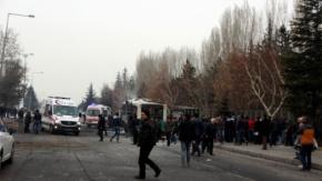Kayseri Erciyes Üniversitesi önünde patlama