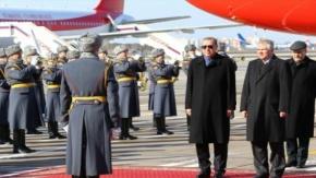 Cumhurbaşkanı Erdoğan Moskova#039;da böyle karşılandı