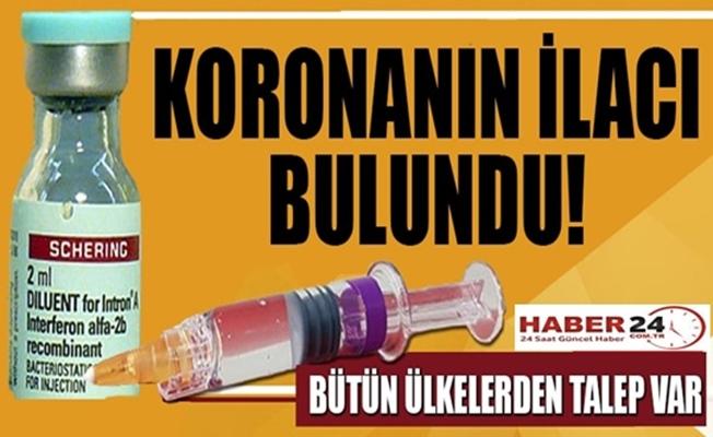 Koronavirüsün  ilacı bulundu!