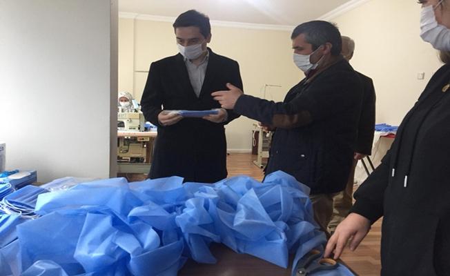 Ordu Gülyalı'da Maske Üretimi