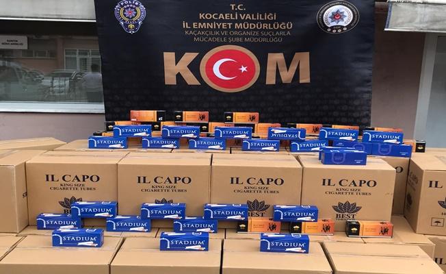 Kocaeli'de 127 koli kaçak makaron yakalandı!