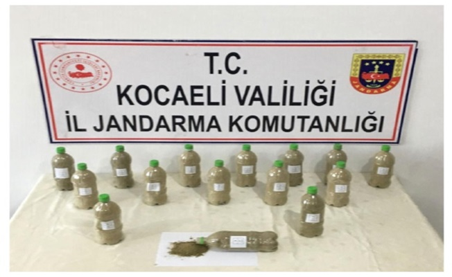 Gebze Jandarma'dan uyuşturucu operasyonu!