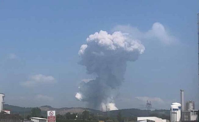 Sakarya'da havai fişek fabrikasında şiddetli patlama meydana geldi