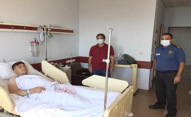 Gebze Kaymakamı Mustafa Güler yaralanan belçiyi ziyaret etti!