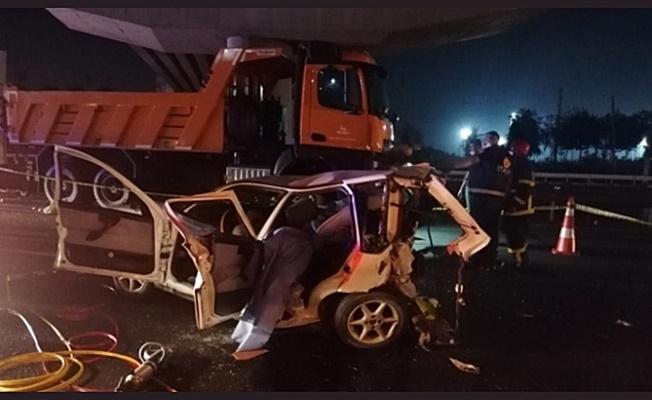 Gebze TEM Oyolu'nda zincirleme kaza