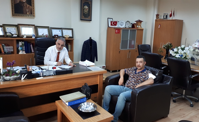 Gencer Tapu Müdürü Kumuşoğlu'nu ziyaret etti