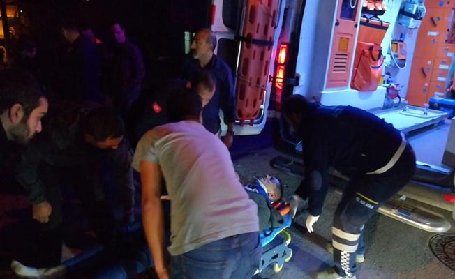 Bariyerlere çarpan otomobil takla attı:1 yaralı