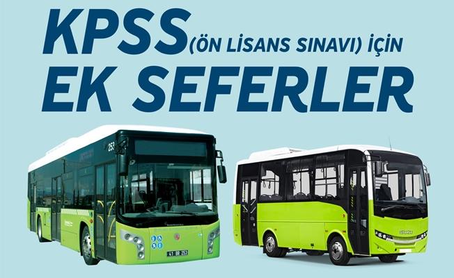 Büyükşehir'den KPSS için ek seferler