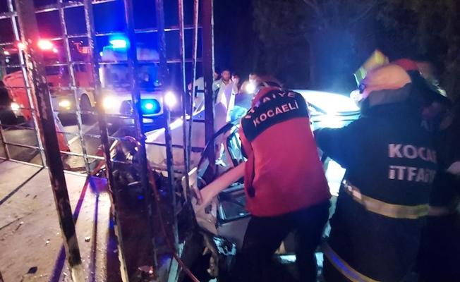 Kamyonla çarpışan aracın sürücüsü yaralandı!