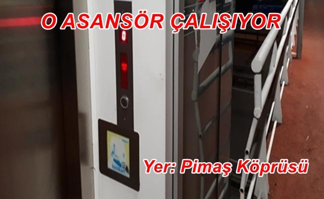 Kocaeli Gebze Pimaş üst geçidi asansörü çalışıyor