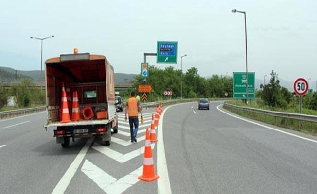 TEM Otoyolu'nda bazı kısımlar trafiğe kapatılacak