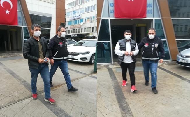 Aranan 2 kişi Kocaeli'de yakalandı!