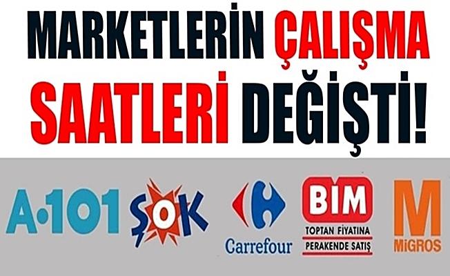 BİM, A101, ŞOK, Carrefour ve Migros'un çalışma saatleri değişti