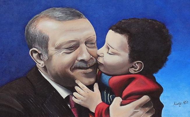 """Cumhurbaşkanı Erdoğan'dan """"yetimlerin babası"""" paylaşımı"""