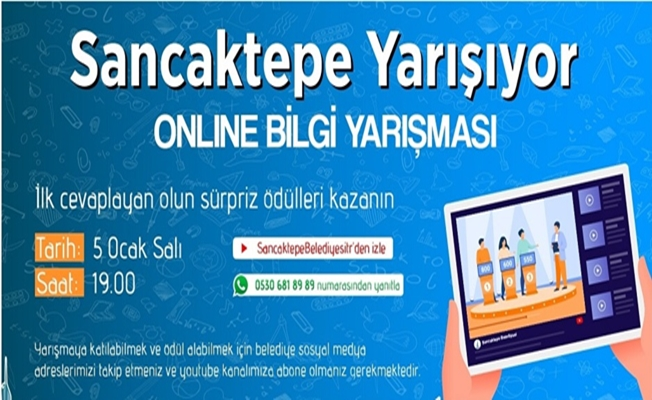 Sancaktepe'de Ödüllü Online Bilgi Yarışması