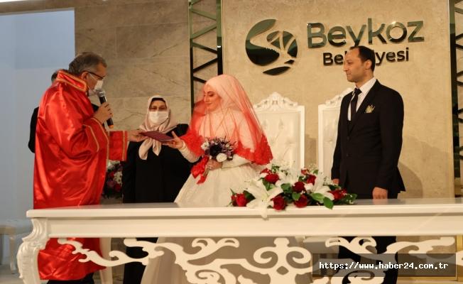 Beykoz Kavacık Nikah Salonu'nda İlk Nikahlar Kıyıldı