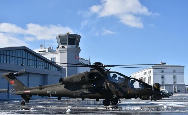 Emniyet Genel Müdürlüğünün ilk T129 Atak helikopteri  teslim edildi