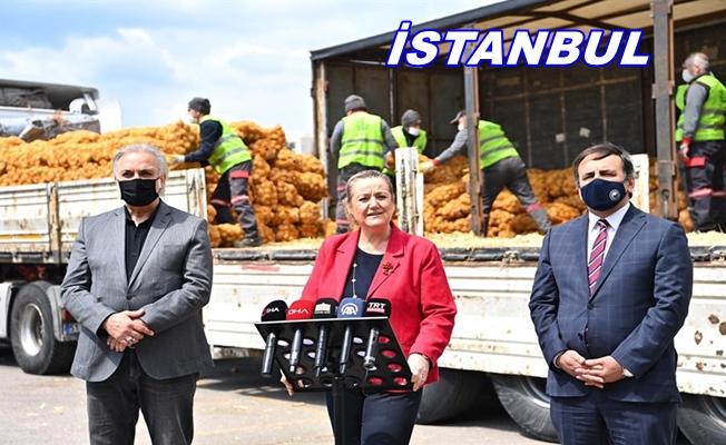 İstanbul'da ücretsiz patates ve soğan dağıtımı başladı