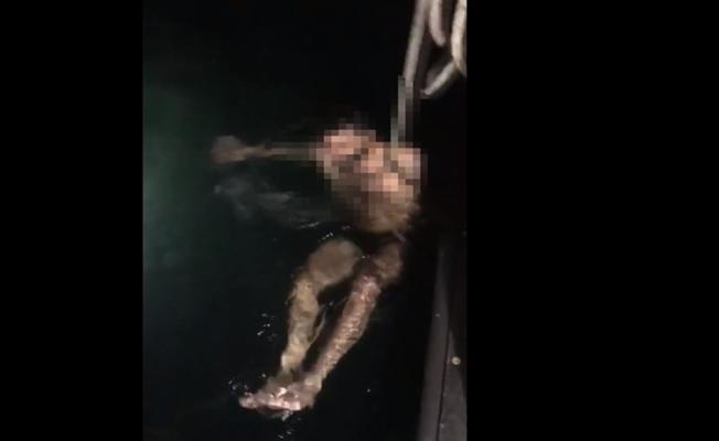 Denize atlayan genci polis ekipleri kurtardı!