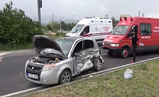 Bolu'da feci kaza;4 yaralı