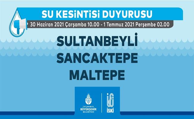 Dikkat...İstanbul'un Bazı ilçelerinde su verilemeyecek