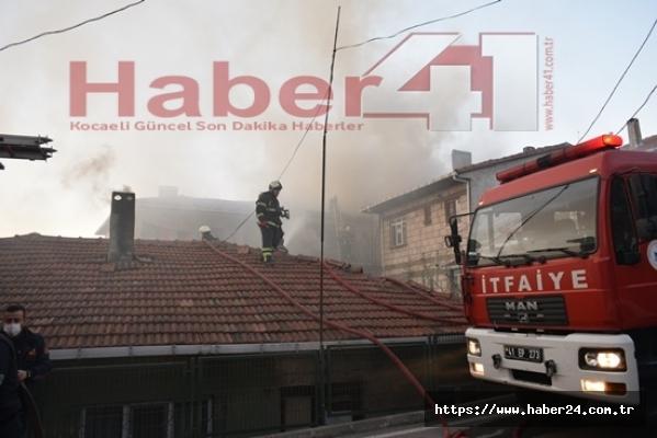 Kocaeli'de gecekonduda yangın