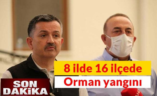 Bekir Pakdemirli'den kritik açıklama Türkiye'de 8 ilde 16 ilçede orman yangını