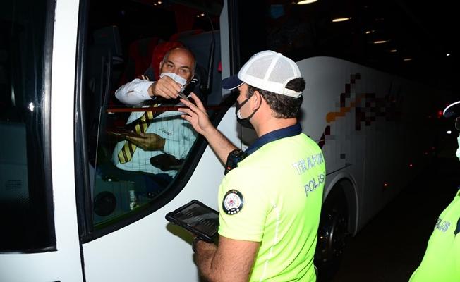 Kocaeli'de şehirler arası yolcu otobüsleri denetleniyor