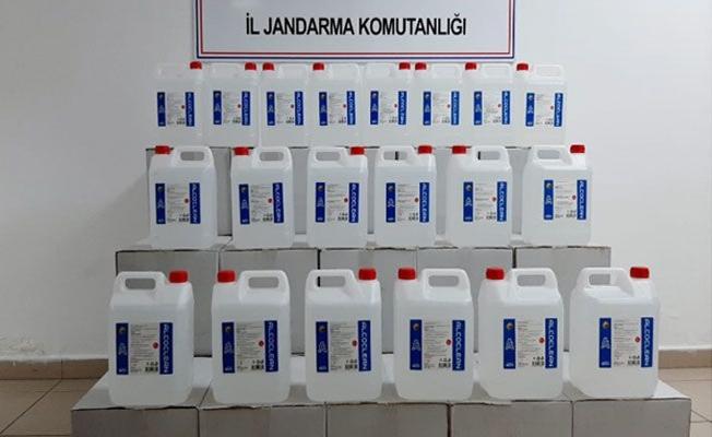 Kocaeli'de 700 litre sahte etil alkol ele geçirildi