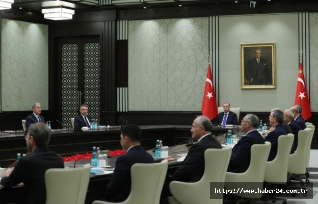 Milli Güvenlik Kurulu, Cumhurbaşkanı Erdoğan başkanlığında toplandı