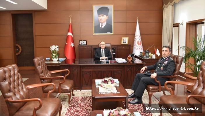 Zonguldak Valisi Mustafa Tutulmaz, İl Jandarma Komutanını ağırladı