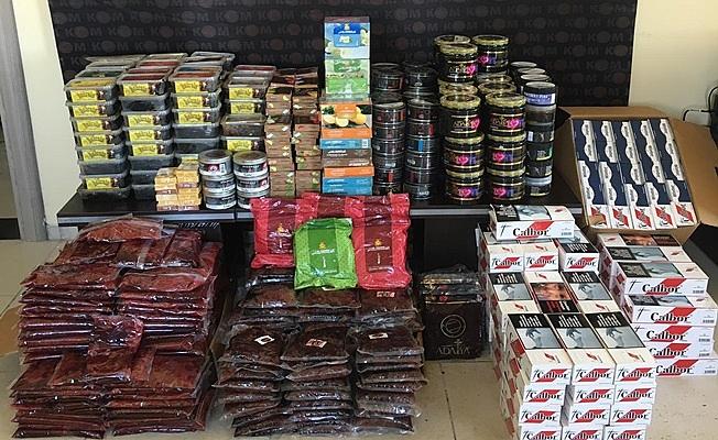 Kocaeli'de yüzlerce kilo kaçak tütün yakalandı