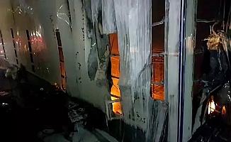 Dilovası İMES OSB'de spor malzemesi üreten fabrikada yangın çıktı