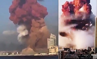 Lübnan'ın başkenti Beyrut'ta patlama! 2 kilometrelik alan yok oldu