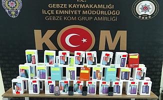 Gebze'de 51 adet gümrük kaçağı cep telefonu yakalandı!