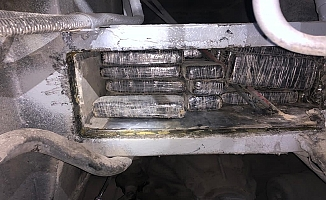 TEM'de durdurulan otobüste 87 bin 150 gram eroin yakalandı!