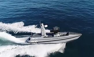 Silahlı İnsansız Deniz Aracı ULAQ suya indirildi