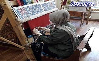 Ümraniye'de Kilim dokuma geleneği hayat buluyor