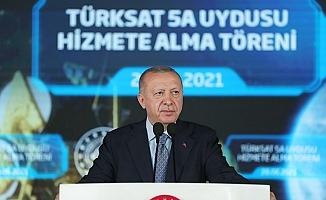 """Cumhurbaşkanı Erdoğan""""TÜRKİYE, DÜNYADA HABERLEŞME UYDUSU ÜRETEBİLEN 10 ÜLKE ARASINA GİRECEKTİR"""""""