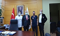 Kocaeli Üniversite Hastanesi Başhekimi Kemal Doğuluyu makamın da ağırladı