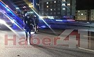 D-100#039;de karşıdan karşıya geçmeye çalışan kadın feci şekilde can verdi !