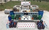 Jandarma'dan Gebze'de kaçak içki operasyonu: 3 bin litre !