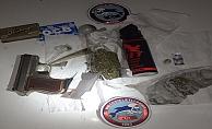 Üzerinde tabanca ve uyuşturucu maddeyle yakalanan şahıs tutuklandı!