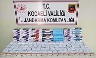 Kocaeli'de binlerce kaçak sigara yakalandı!