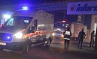 Fabrika'da patlayan akü yangına neden oldu!