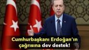 Cumhurbaşkanı Erdoğan'ın çağrısına dev destek