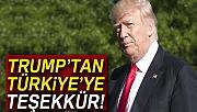 ABD Başkanı Trump'tan Türkiye'ye teşekkür
