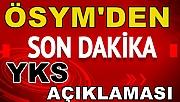 ÖSYM'den YKS Açıklaması!