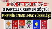 Şok anket! O partiler resmen göçtü! MHP'nin inanılmaz yükselişi